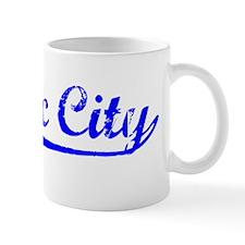 Vintage Quebec City (Blue) Mug