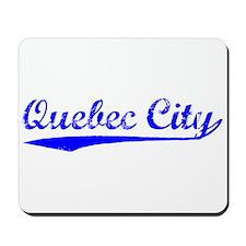 Vintage Quebec City (Blue) Mousepad