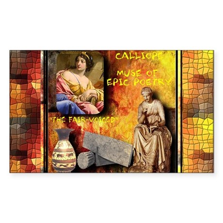 Greek Goddess Calliope Rectangle Sticker
