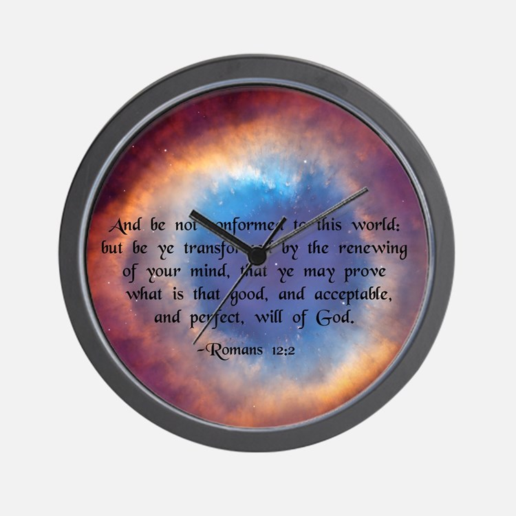 """""""Be ye not conformed"""" Wall Clock"""