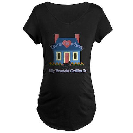 Brussels Griffon Maternity Dark T-Shirt