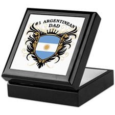 Number One Argentinean Dad Keepsake Box