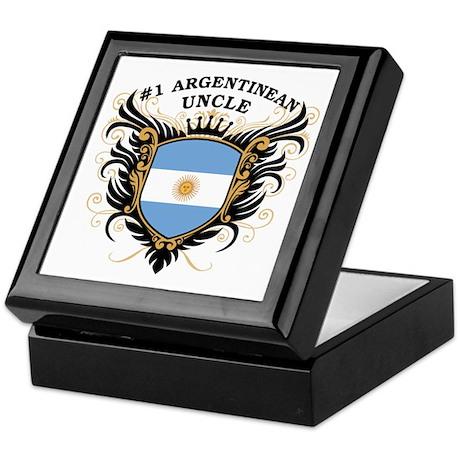 Number One Argentinean Uncle Keepsake Box