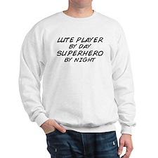 Lute Superhero by Night Sweatshirt