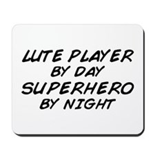 Lute Superhero by Night Mousepad