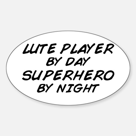 Lute Superhero by Night Oval Decal