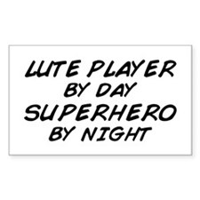 Lute Superhero by Night Rectangle Decal