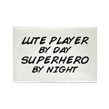 Lute Superhero by Night Rectangle Magnet