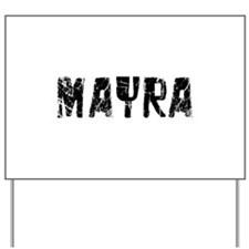 Mayra Faded (Black) Yard Sign