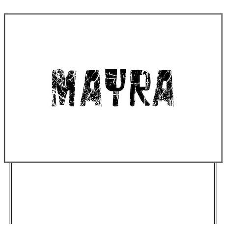 Mayra Faded (Black) Yard Sign