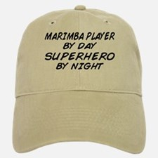 Marimba Superhero by Night Baseball Baseball Cap