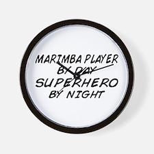 Marimba Superhero by Night Wall Clock