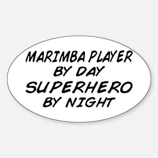 Marimba Superhero by Night Oval Decal