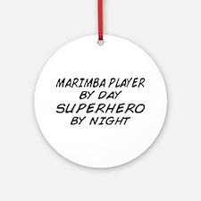 Marimba Superhero by Night Ornament (Round)