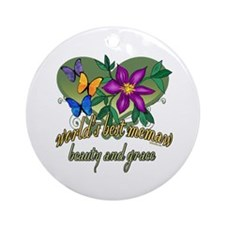 Beautiful Memaw Ornament (Round)