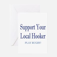 Support Your Local Hooker Greeting Card