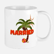 "Groom ""Married"" Tropical Mug"
