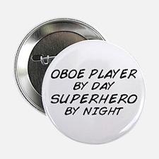"Oboe Superhero by Night 2.25"" Button"