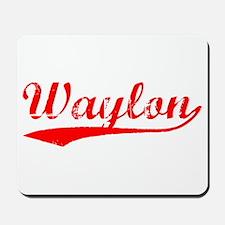 Vintage Waylon (Red) Mousepad