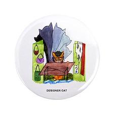 """Designer Cat 3.5"""" Button"""