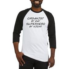 Organist Superhero by Night Baseball Jersey