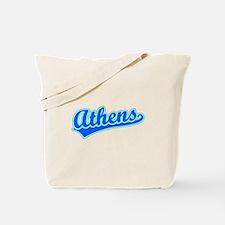 Retro Athens (Blue) Tote Bag