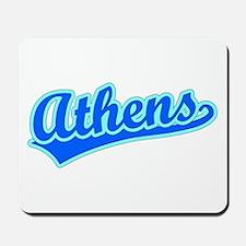 Retro Athens (Blue) Mousepad