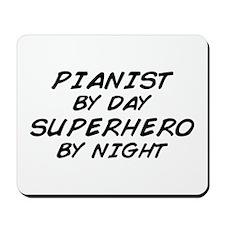 Pianist Superhero by Night Mousepad