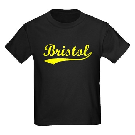 Vintage Bristol (Gold) Kids Dark T-Shirt