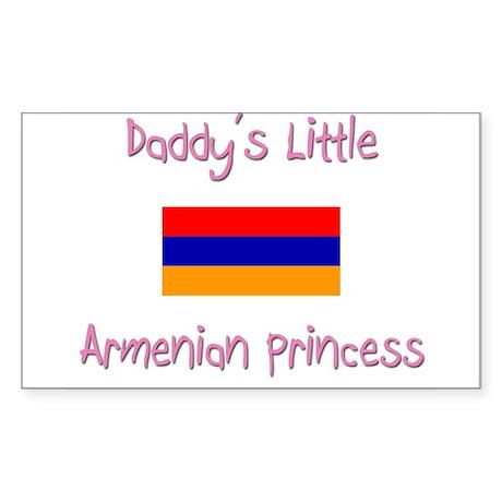 Daddy's little Armenian Princess Sticker (Rectangl