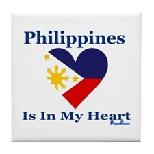 Philippines - Heart Tile Coaster