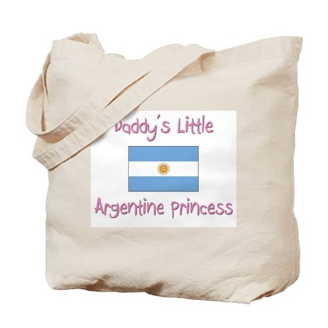 Daddy's little Argentine Princess Tote Bag