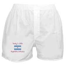 Daddy's little Argentine Princess Boxer Shorts