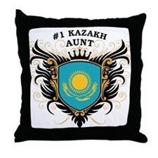 Number One Kazakh Aunt Throw Pillow