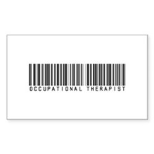 Occupational Therapist Barcode Rectangle Decal