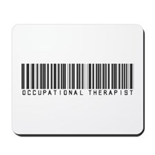 Occupational Therapist Barcode Mousepad