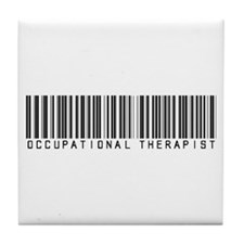 Occupational Therapist Barcode Tile Coaster