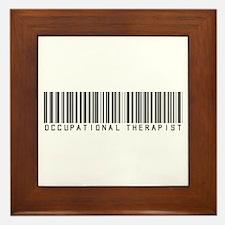 Occupational Therapist Barcode Framed Tile