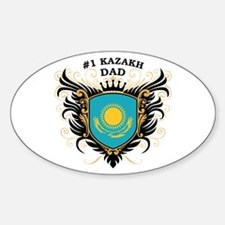 Number One Kazakh Dad Oval Decal