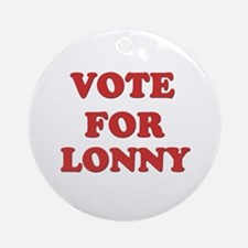 Vote for LONNY Ornament (Round)