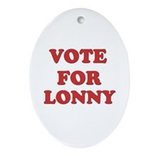 Vote for LONNY Oval Ornament
