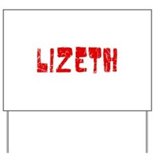Lizeth Faded (Red) Yard Sign