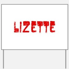 Lizette Faded (Red) Yard Sign