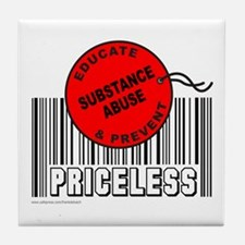 EDUCATE AND PREVENT SUBSTANCE ABUSE Tile Coaster