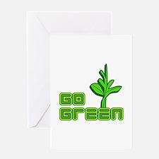 Go Green Geek Greeting Card