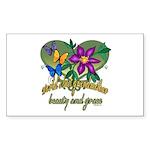 Beautiful Grandmother Rectangle Sticker 50 pk)