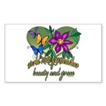 Beautiful Grandmother Rectangle Sticker