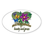 Beautiful Grandmother Oval Sticker (50 pk)