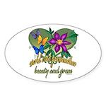 Beautiful Grandmother Oval Sticker (10 pk)