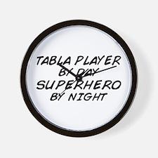 Tabla Plyr Superhero by Night Wall Clock